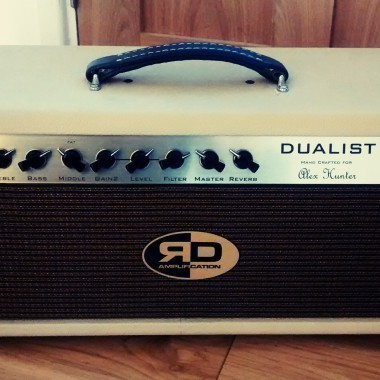 Custom R D Amplification - bespoke DUALIST tube amplifier handcrafted for Alex Hunter