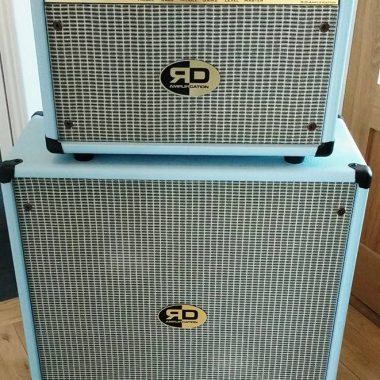 Vintage guitar amplifier rig