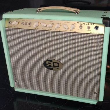 hand wired vintage guitar amplifier - Seafoam Green